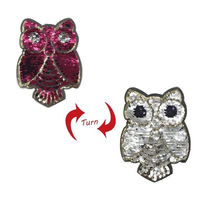 Cute Owl Shape Embroidered Sew on Sequins Patch for DIY Clothing Accessory 8407d1b667bc