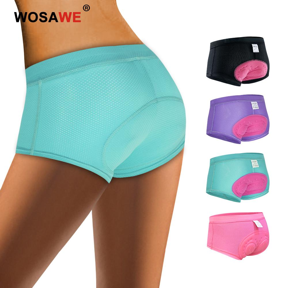 Ladies Cycling Underwear Breathable Padded MTB Bike Underpant Triangle Shorts