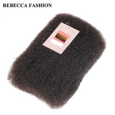 Human Hair Weaves Styleicon Human Braiding Hair Bulk 3 Bundles Remy Peruvian Afro Kinky Bulk 50 Gram/ Piece Kinky Curly Hair Crochet For Braiding