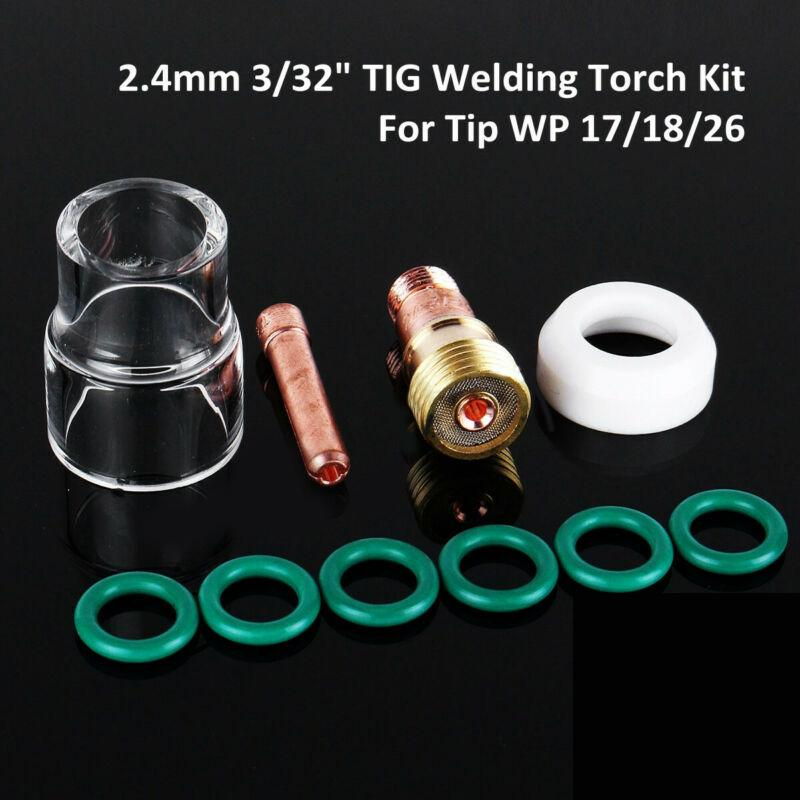 21Pcs TIG Welding Torch Stubby Gas Lens Cup Kit for Tig WP-17//18//26 Series