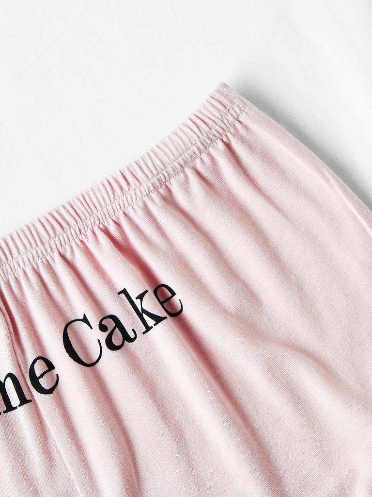 ca88ba900fd4 Conjuntos de pijama ella en carta cami volante fruncido conjunto de pijamas  cortos