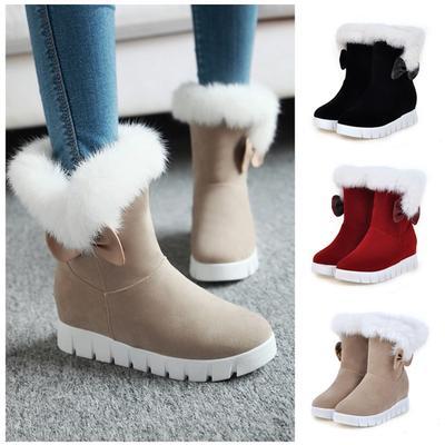 f281b1573 Женщины моды снег сапоги теплого хлопка ботинки женщин лодыжку ботинки  бабочкой сладкий стиль сапоги плоские сапоги