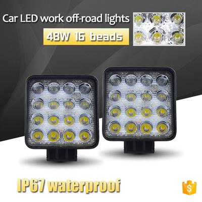 2x 12V LED DRL daytime lights with integrated turn dynamic signal indicators for car van 4x4 bus motorbike