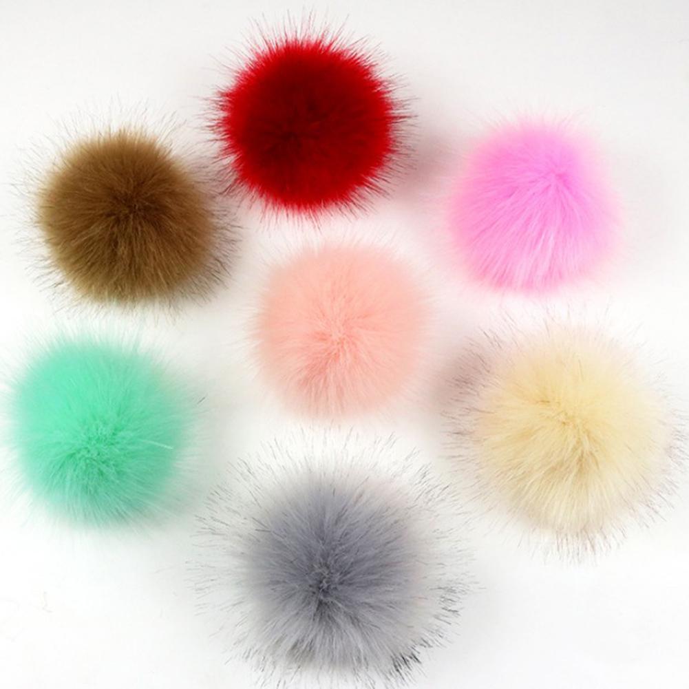 Faux Фокс Мех Резина Band твердый цвет Pom Ball Hat Одежда Украшения Аксессуары