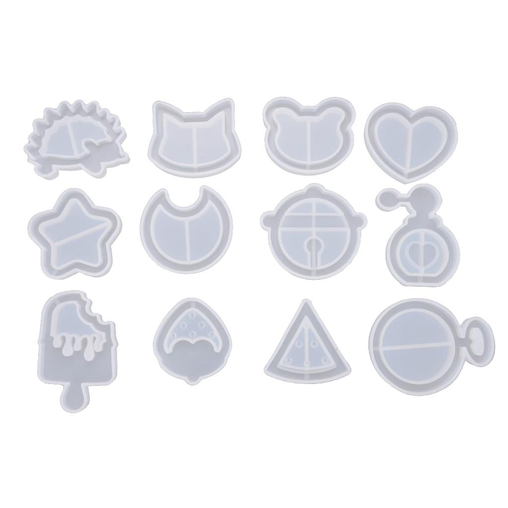 Crafts Crystal Cat Pendant Resin Mould Jewelry Making Silicone Mold UV Epoxy