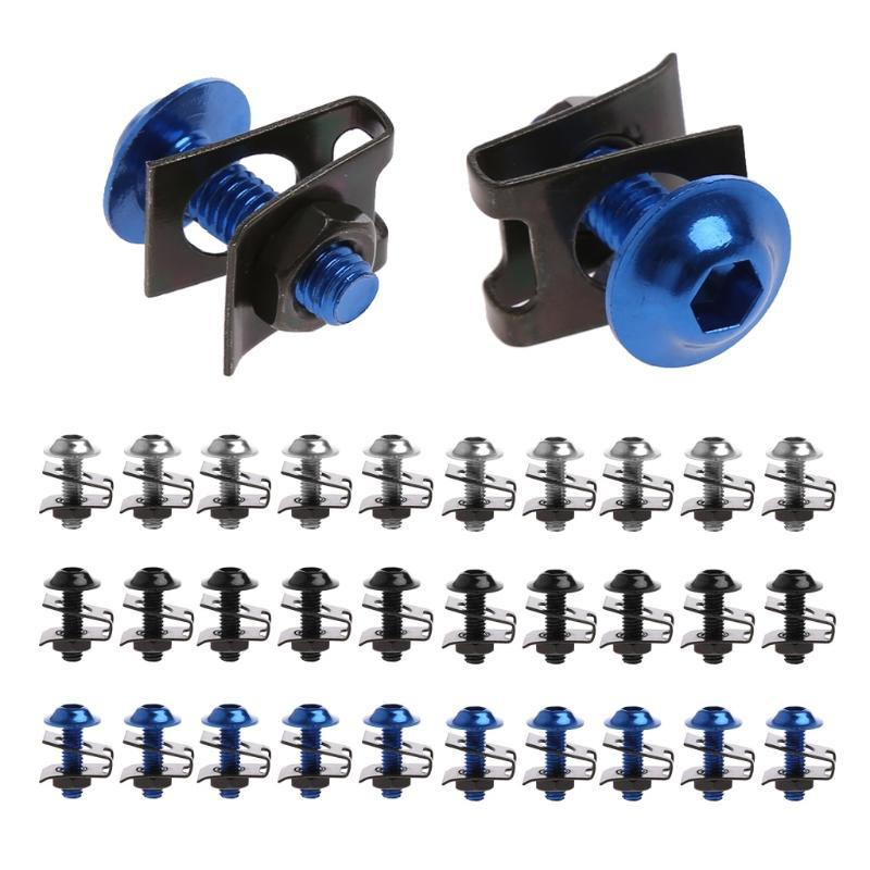 120PC Stainless Steel Fairing Bodywork Panel U Clips U Nut Speed Fasteners M5 M6