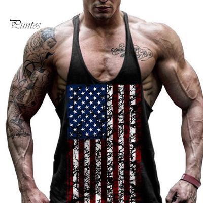 Men/'s Gym Singlet Tank Top Tee Stringer Bodybuilding Y-Back Muscle Fitness Vest