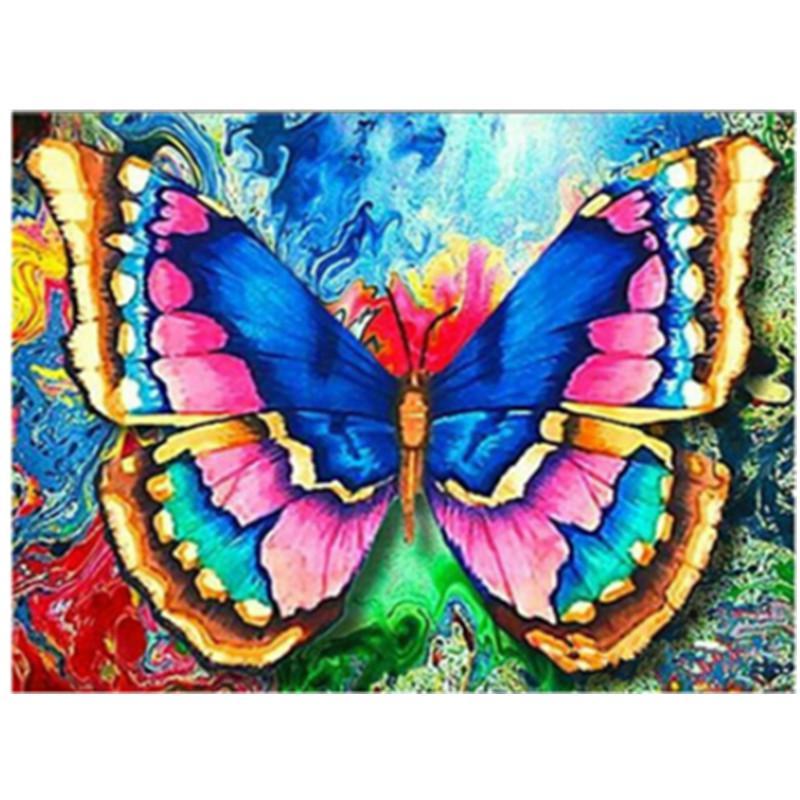 @ 30x40cm 5D DIY Full Drill Diamond Painting Blue Butterfly Cross Stitch
