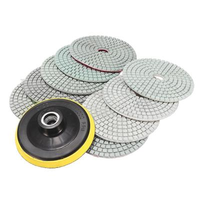 Diamond Polishing Pads 4 inch Wet Dry Set Backer Granite Stone Concrete Marble ^