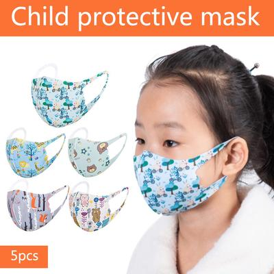 5//10 PC Kids Baby Breathable Mouth Cloth,Safet Protect Thin Type Cartoon