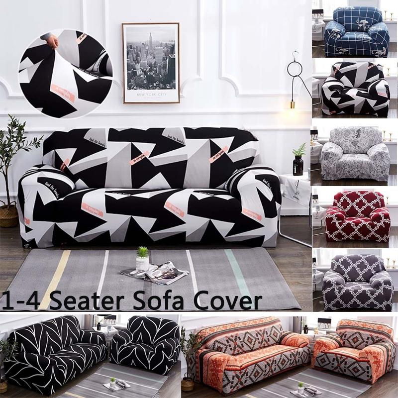 RETRO SOFA SLIPCOVERS SEAT COVER COUCH LOVE SEAT STRETCH UNIVERSAL SOFA 1-4 SEAT