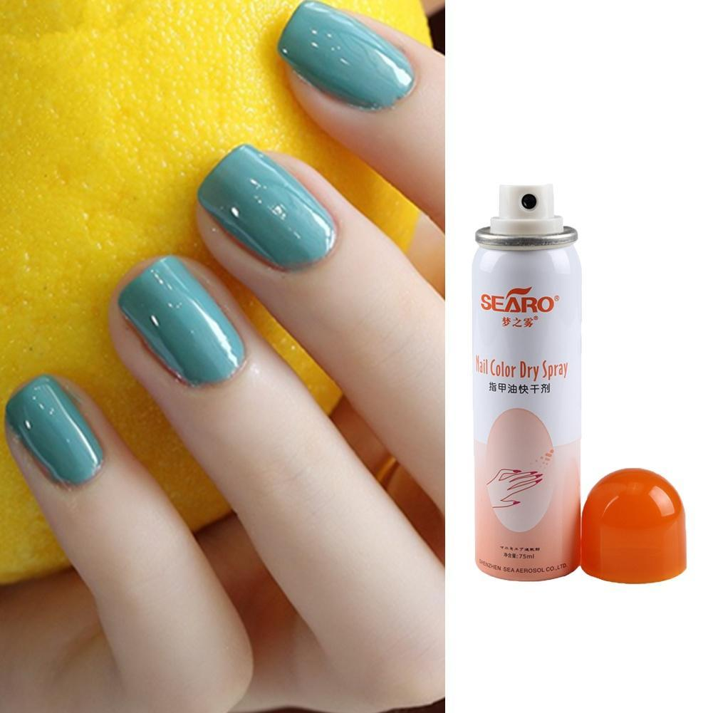 75ML Nail Polish Gel protect nail polish white Quickly Dryer Spray ...