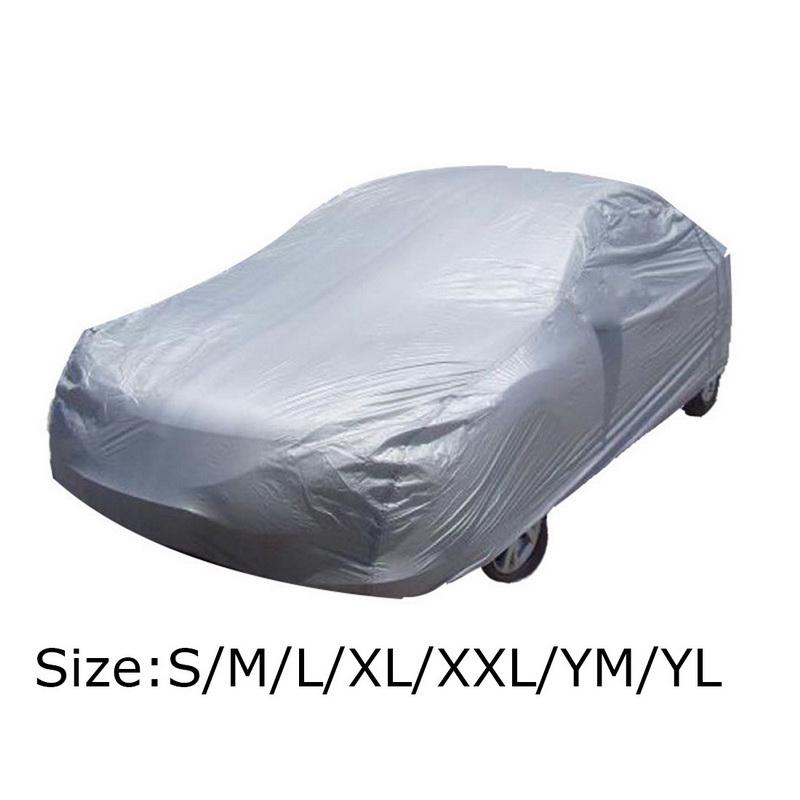 Black?Car?Cover?Waterproof?Anti?Heat?Sun?UV?Snow?Dust?Rain?Resistant?Protection Size XXXL