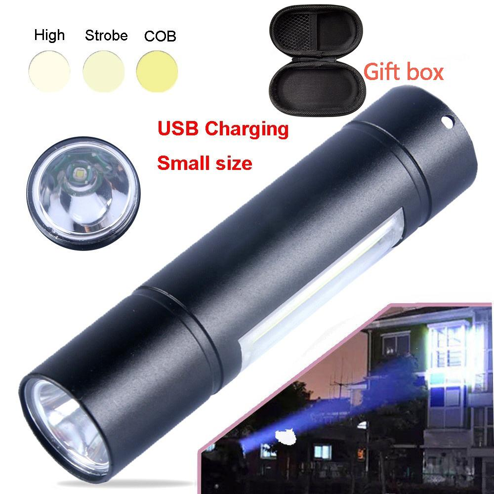 XPE LED Lamp Flashlight Torch 3 Modes 14500  Battery Powered Hand Light