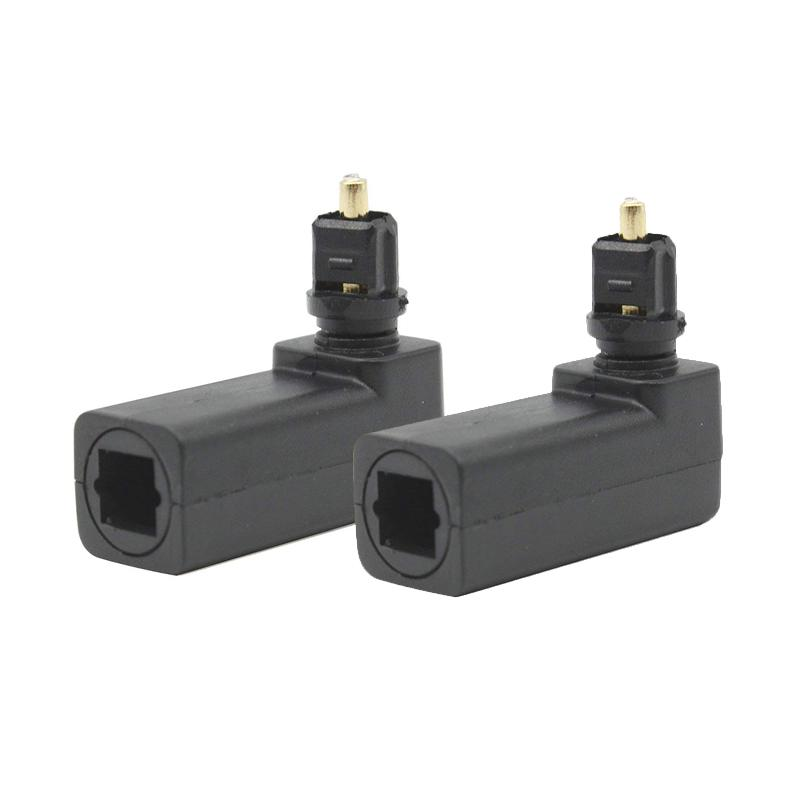 Optical Right Angled 90 Degree Swivel Adapter SPDIF TOSlink