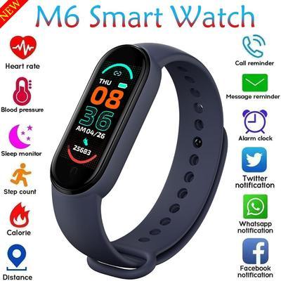 M6 Smart Watch Bracelet Heart Rate Blood Pressure Monitor Fitness Tracker Color Screen IP67 Waterproof For Mi Bnad 6 2021 Newest