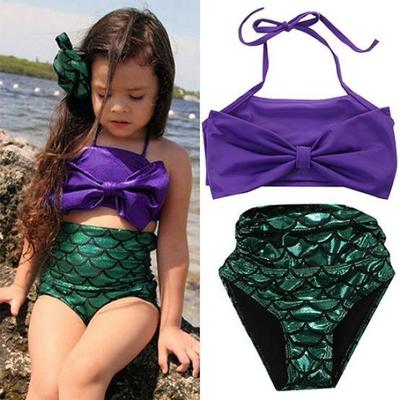 Girl Mermaid Tail Swimmable Princess Bikini Set Swimsuit Costume Pool Party New