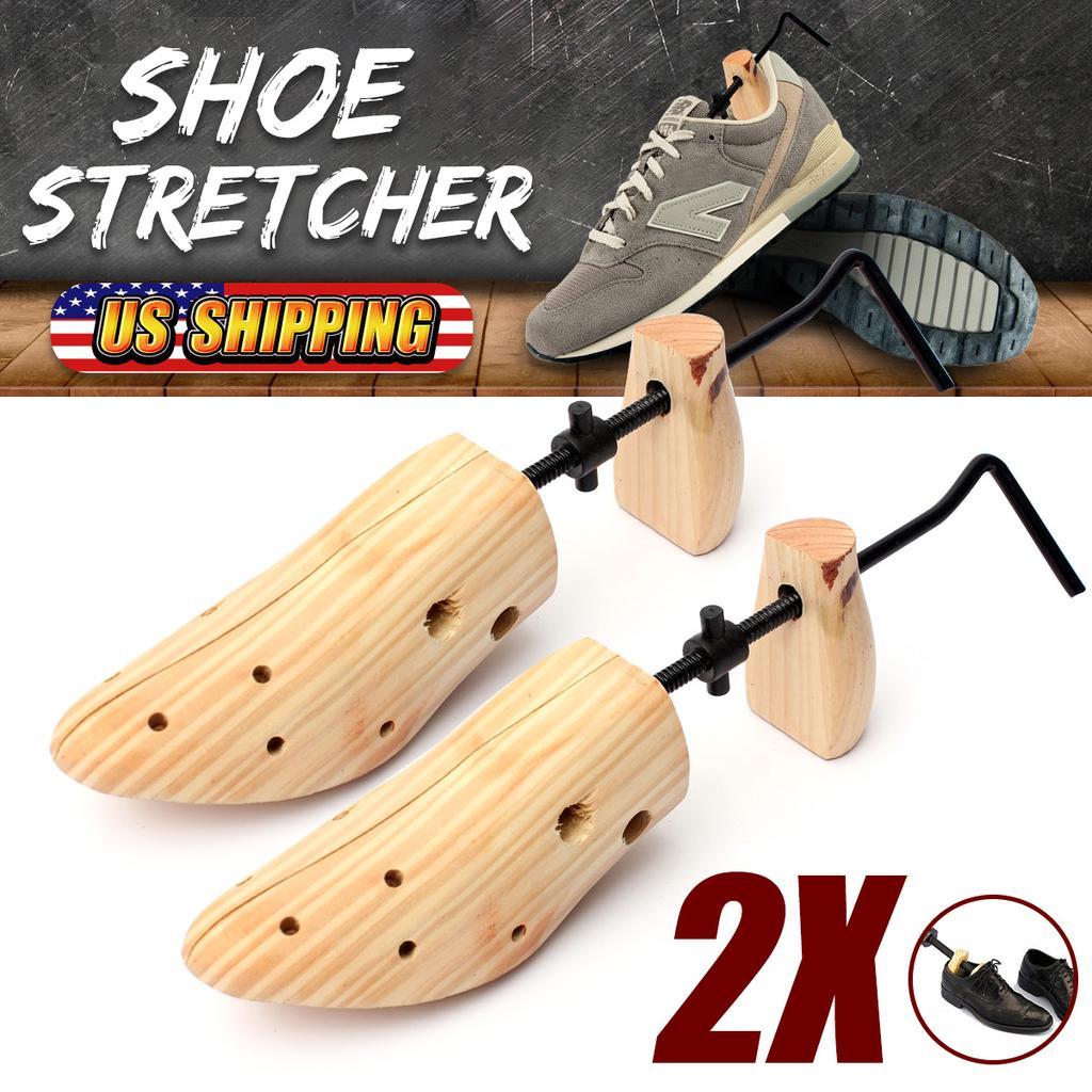 Details about  /1 Pair Shoe Stretchers Solid Pine Wood Adjustable Wooden Shoes Shaper Women Men