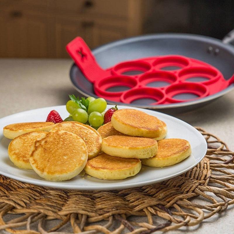TOSSPER Silicone Cake Mould Porous Mold Eggs Mold Pancake Maker Pancakes Cheese Egg Egg Ring Maker Nonstick