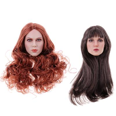 KUMIK 1//6 scale BURGUNDY Hair Wig for 12/'/' Female Figure Doll