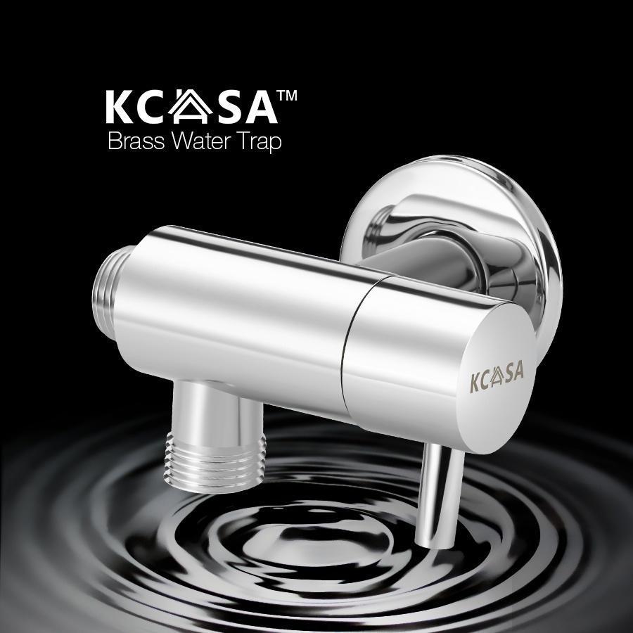 KCASA Messing 360° Rotation Schalter Wasser Knockout Trap Dreiwege ...