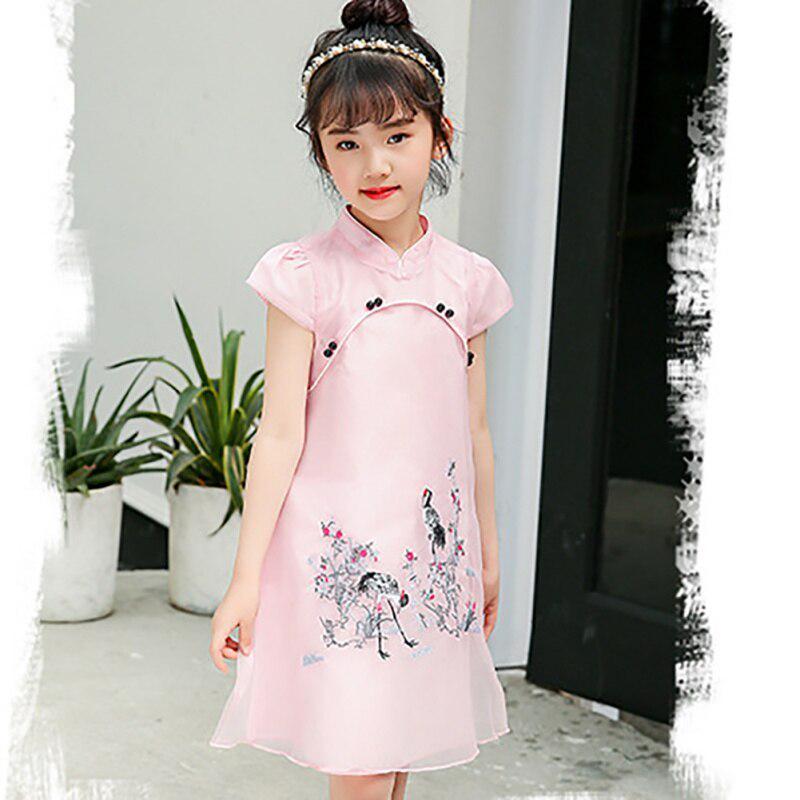 Toddler Kids Baby Girls Pretty Princess Dress Party Wedding Sleeveless Cheongsam