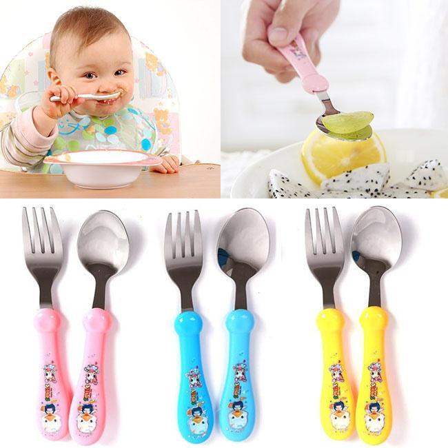 3pcs peque/ños ni/ños peque/ños Utensilios de pl/ástico para beb/és de cucharas Alimentaci/ón Infantil Herramienta Sensible al Calor de los ni/ños Vajilla