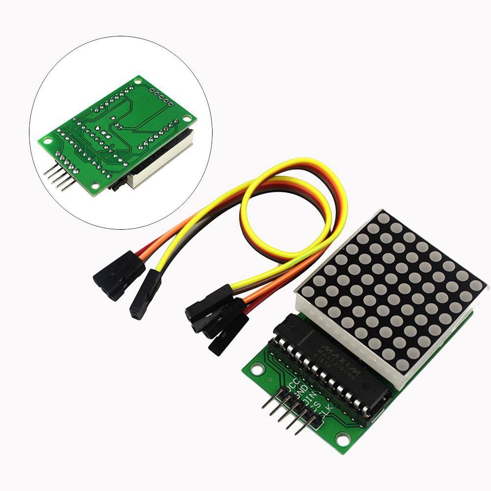 Tablero de control de módulo de microprocesador de matriz de puntos Pantalla LED 8*8 para Arduino