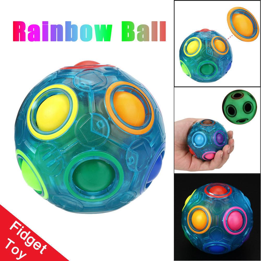Rainbow Magic Ball 3D Puzzle Ball Speed Cube Rubix Cube Toys Luminous