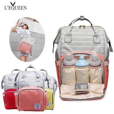 5c6c8a85a0057 Moda mumya sırt çantası bebek bezi çanta büyük kapasite bebek seyahat  için'deki annelik tasarımcı
