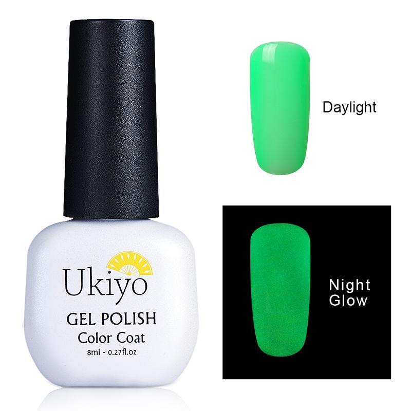 Resplandor de la noche de arte en Gel oscuro barniz de uñas Ukiyo ...