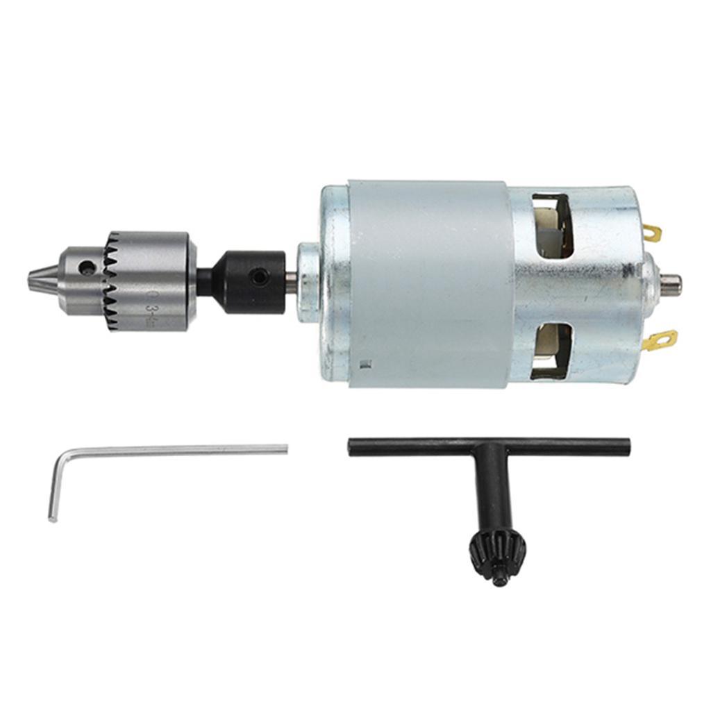 775 Motor 12-24V DC Electric Drill Drill Chuck For Polishing Drilling Cutting