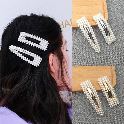 10Pcs//set Fashion Geometric Hairpin Bangs Hair Clips Women Girls BB Side Clips