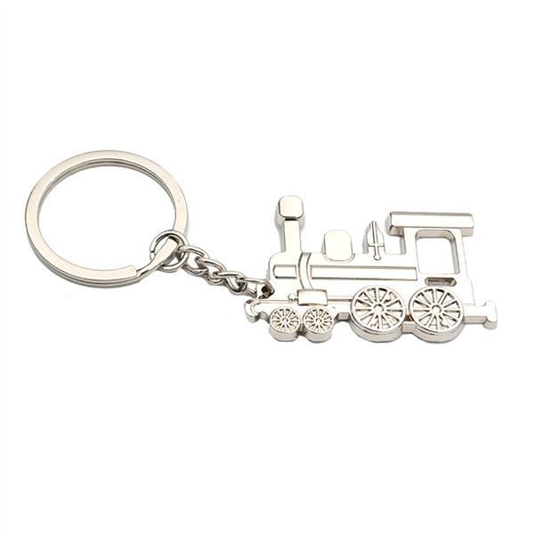 1X Creative Metal Locomotive Train Keychain Keyring Key Ring Pendant Gift