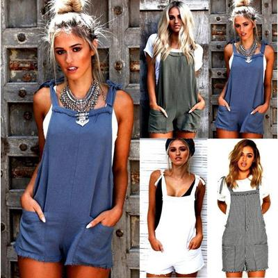 6252ac2ab37 Fashion Women Casual Loose Overalls Jumpsuit Strap Rompers Dungaree  Oversized Trousers