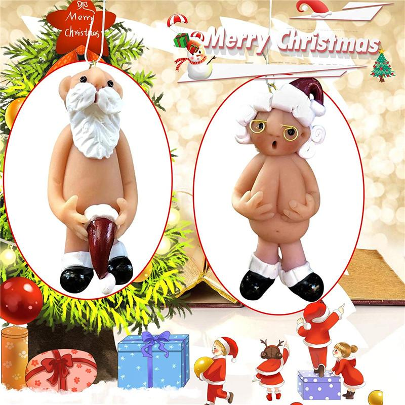 Christmas Tree Hanging Naughty Santa Pendants Ornament Funny Claus Home Decorate