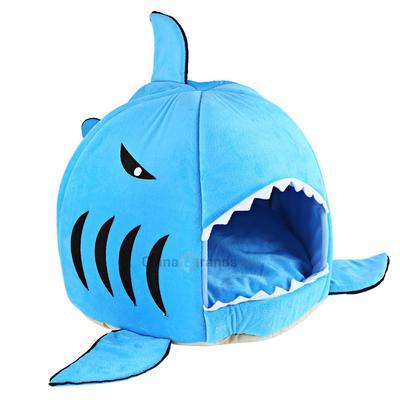 Schöne Weiche Hai Mund Form Doghouse Haustier Zwinger Schlafen Bett Mit  Kissen Für Kleinen Hund Katze