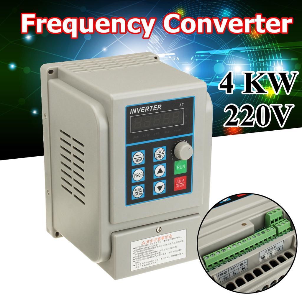 220V Single-phase Frequenzumrichter VFD Drehzahlregler for 3phase 5.5kW AC Motor
