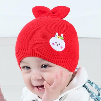 6cdf94bdcee Children s Hats In Autumn and Winter Korean Style Cute Baby Hat Color  Rabbit Ears