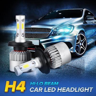 H4 160W 16000LM Car HI-LO BEAM COB LED HEADLIGHT BULBS HB2 9003 6500K White KIT