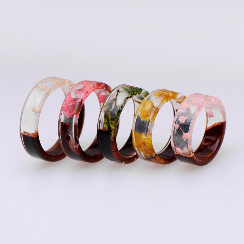 Resin circular thumb ring