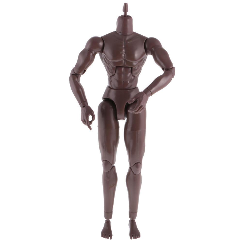 1//6 Scale Male Figure Black Skin Wide Shoulder Muscular Body Toy for TTM19 TTM18