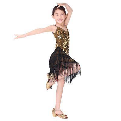 624f84194 Los niños niñas vestidos ritmo Salsa Samba Rumba Tango baile latino Vestido  de baile