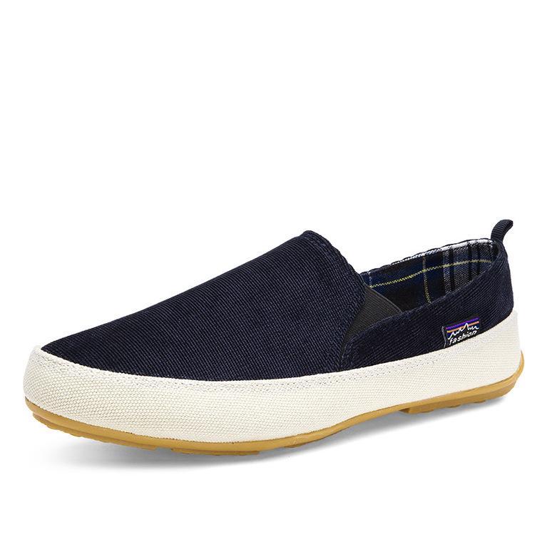 Moda primavera velho Pequim Men ' s pano de lona sapatos coreano casual tendência A pedal sapatos masculinos