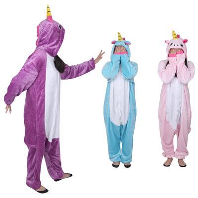 Adult Unisex Tianma unicorn Animal Pajama Cosplay Pyjamas Costume Blue Kigurumi