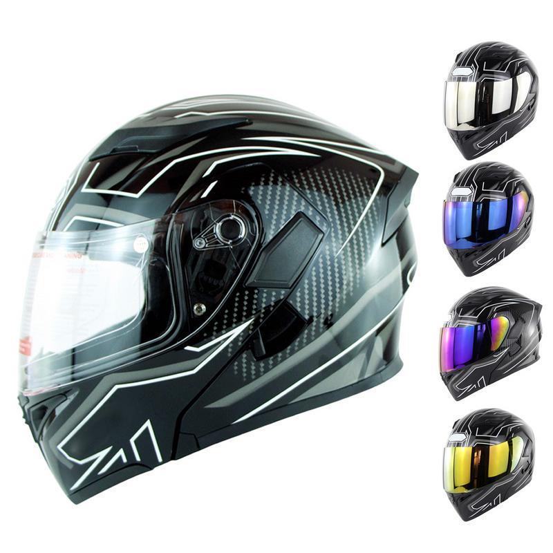2d8805f9 Moto auricular Bluetooth casco K5 doble lente Full Face 6 color ...
