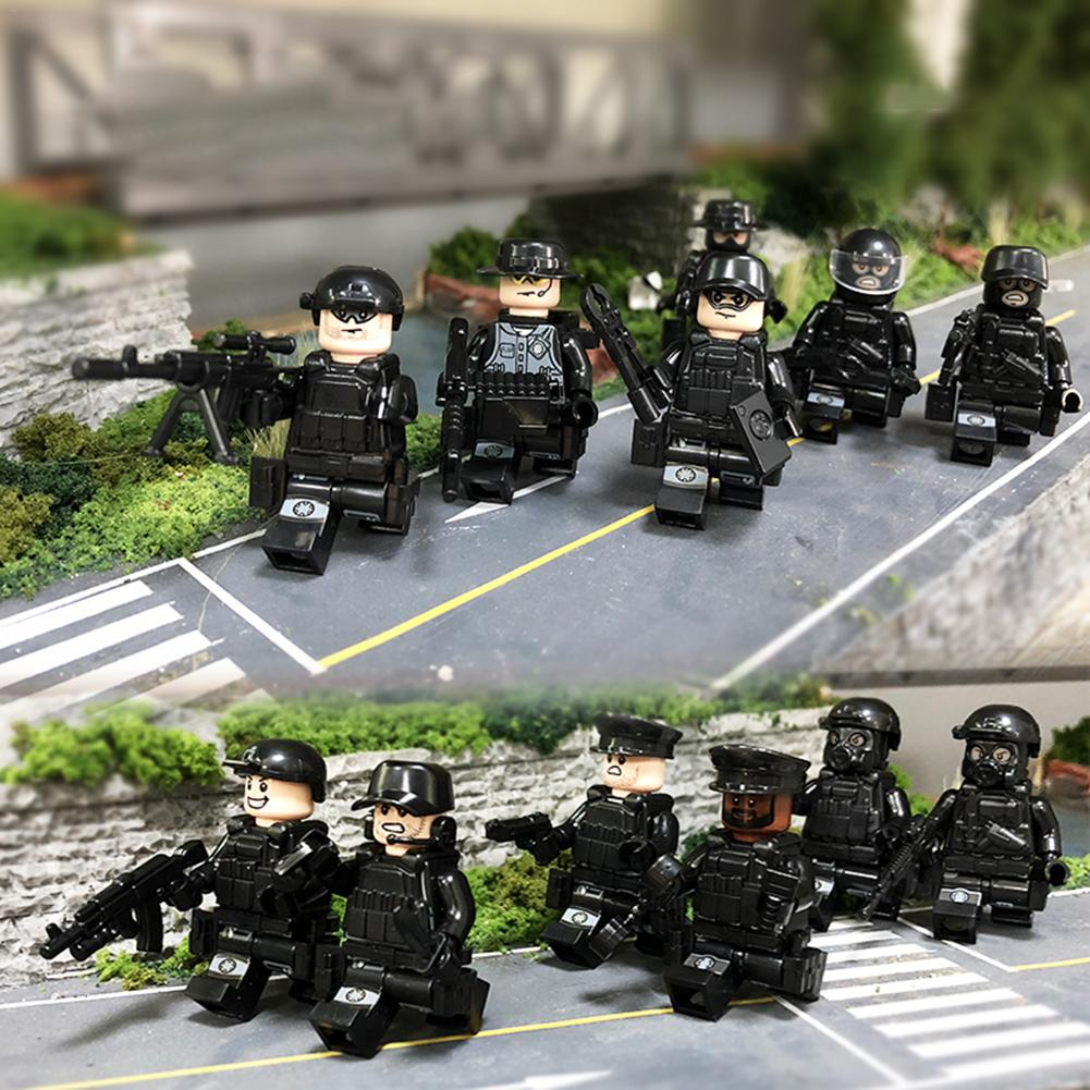 Building Blocks Police Armed Military City Children Figures Toy Model