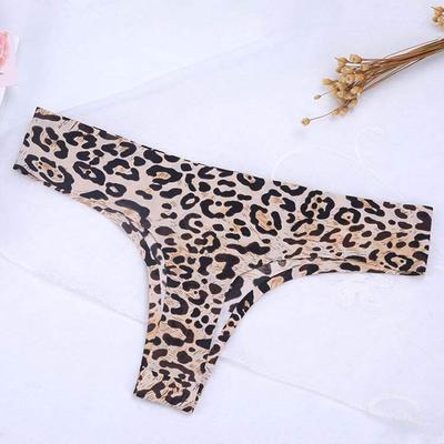 f58a8e40b8c Seamless Ice Silk Thong Sexy Women Floral Print Temptation Briefs  Breathable Comfortable Underwear