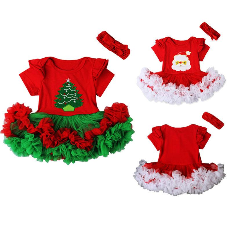 Headband 3PCS 12 Months-6 Years FANCYINN Baby Girls Christmas Costume Outfits Toddler Girls Santa Claus Long Sleeve Tops Printed Long Pants