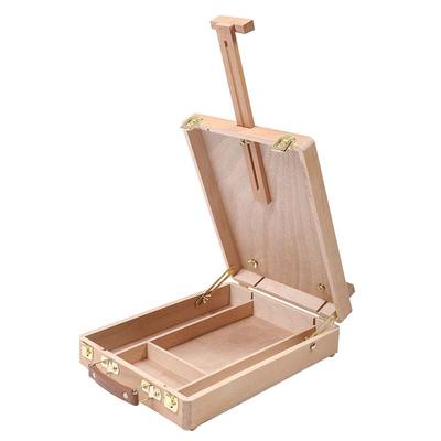 3 Drawer Artist Wood Box Easel Drawing Painting Portable Storage Multi-Functional Box Store Art Paint Markers Pens